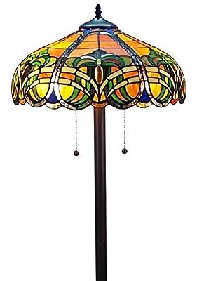 Amora Lighting AM1072FL16 Tiffany Style Baroque Floor Lamp 61 in Tall