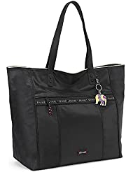 Sakroots Women's Kota Nylon Travel Shoulder Bag, Black, One Size