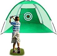 VAV 2M/6.6FT Golf Net, Golf Hitting Nets, Golf Driving Range Net with Target, Practice Net Golf Training Aids
