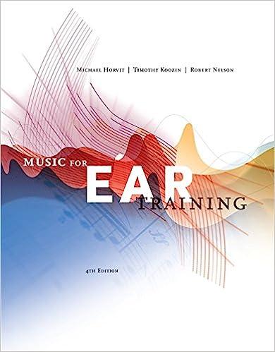 music for ear training horvit answer keys