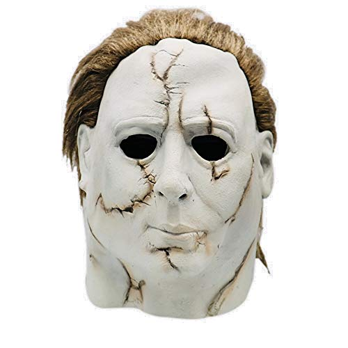 (Mintu Cosplay Universe Michael Myers Melting Latex Helmet Collectible Mask with Santa Hat Shoes Gloves Scary Mask Toy Accessories)
