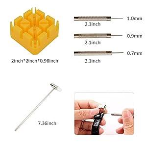 MokenEye 168 PCS Watch Repair Kit Watch Battery Replacement Tool Kit Watch Case Opener Professional Watch Battery Replacement Tool Kit, Spring Bar Tool Set