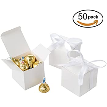 Fabulous Amazon.com: White Gift Boxes 2x2x2 inch for Candy Treat Gift Wrap  SC45