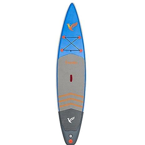 Tabla De Paddle Surf Para Principiantes (6 Cm De Espesor) Alu Sup Paddle Telescópica / Bomba De Mano Doble / Schoolbag / Hit Emergency Cup / Cinturón ...