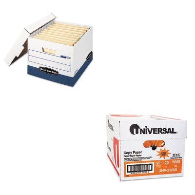 KITFEL00709UNV21200 - Value Kit - Bankers Box Stor/File Max Lock Storage Box (FEL00709) and Universal Copy Paper (UNV21200)