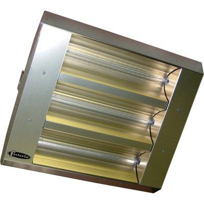 TPI Indoor/Outdoor Quartz Infrared Heater - 25,298 BTU, 480 Volts, Stainless ...