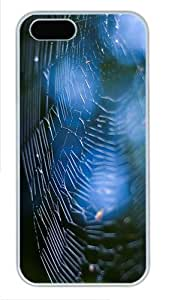 iPhone 5S Cases & Covers -Spider Web bokeh Custom PC Hard Case Cover for iPhone 5/5S ¨C White