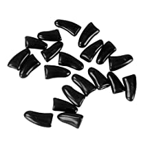 colorofthewind Soft Claws Nail Caps Cover for Kittens Cats Dog 20 Pcs with Glue ,XS,Black