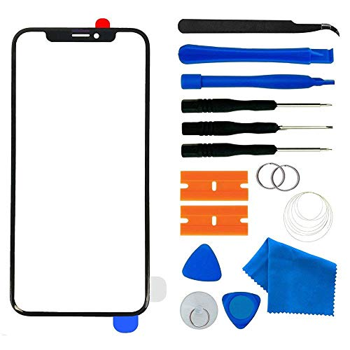 - Original iPhone XR Front Outer Glass Lens Screen Replacement with Adhesive and Repair Tool Kit 6.1 inch