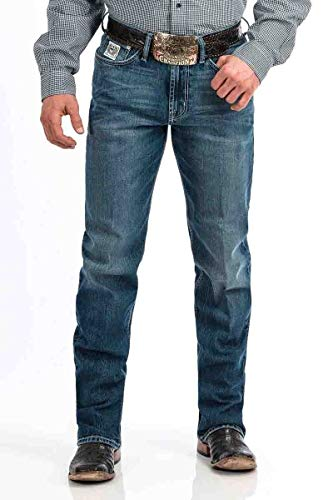 Cinch Men's White Label Relaxed Fit Jean, Ultra/Cool Stonewash, 32 x36