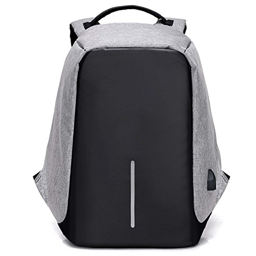 USB Charge Anti Theft Backpack 15 inch Laptop Backpacks Travel duffle School Bags Backpack,OneSize,Gray1 (Computer Auction Laptop)
