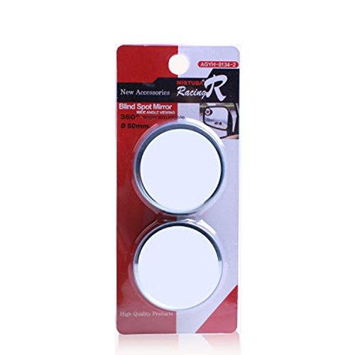 GENOVATION Blind Spot Mirrors, 360°Adjustable Blind Spot Mirror for Driveways, Stick On Rearview Mirror, Convex Mirror for Car, Van, Motorbike - Diameter Blind Spot