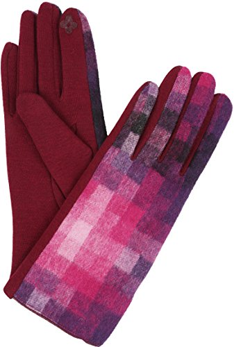 Sakkas 16168 - Kade Pixel Ombre Multi Colored Patterned Warm Touch Screen Winter Gloves - Pink - L/XL