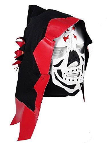 [LA PARKA Adult Lucha Libre Wrestling Mask (pro-fit) Costume Wear - Red/Black] (Custom Wrestling Costumes)