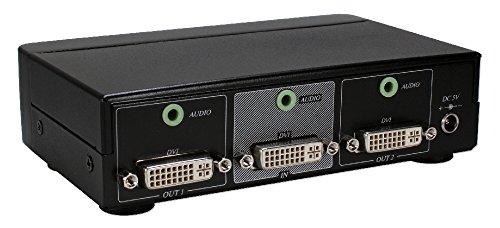 Qvs 2 Port Dvi Digital Splitter Distribution Amp with hdcp & Stereo