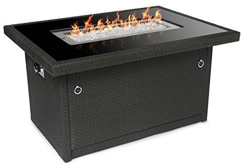 Cheap  Outland Fire Table, Aluminum Frame Propane Fire Pit Table with Black Tempered..