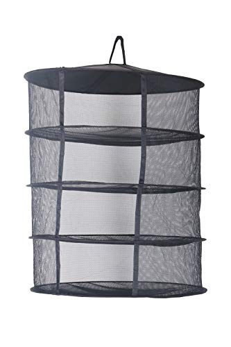 Zazzy 2ft 4 Layer Black Mesh Hanging Herb Drying Rack Dry Net