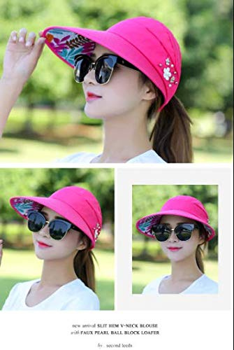 - Pink Golf cap Lady Summer Travel Folding Korean Sun Women Outdoor Hat Anti-ultraviolet Cotton Flower Girl Baseball Hat