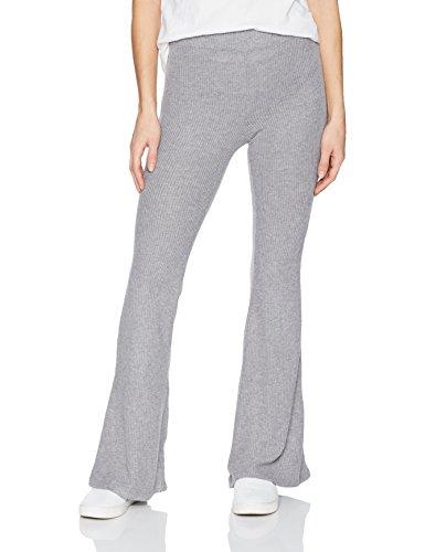 (Volcom Junior's Womens' Lil Fitted Rib Fleece Sweatpant, Heather Grey, L )