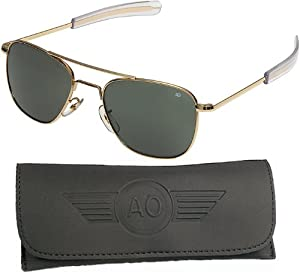 """GENUINE GOVERNMENT AIR FORCE PILOTS SUNGLASSES BY """"AMERICAN OPTICS"""", Gold, 57mm"""