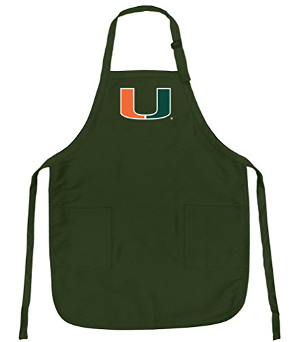 Miami Apron NCAA UM Adj. Aprons with Pockets