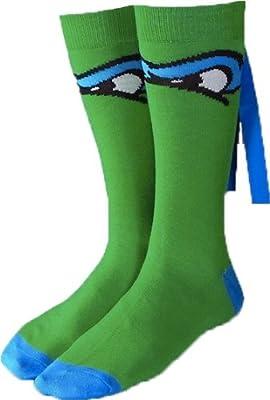 Teenage Mutant Ninja Turtles LEONARDO Blue MASKED CREW SOCKS