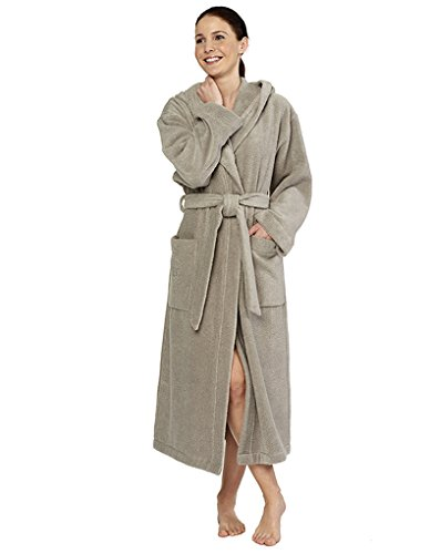 Feraud Taupe Cotton Robe 125cm 3661728-10385
