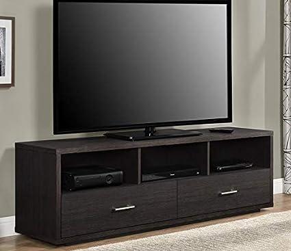 Amazon com: Tv Stand For 70 Inch Tv - Warm Espresso Brown