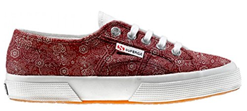 Superga Customized Chaussures Coutume Red Paisley (produit artisanal)