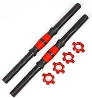 ASCELINA 2pcs Adjustable Dumbbell Bar Fitness Dumbbell Bars Durable Dumbbell Handle Weight Lifting with 4pcs N