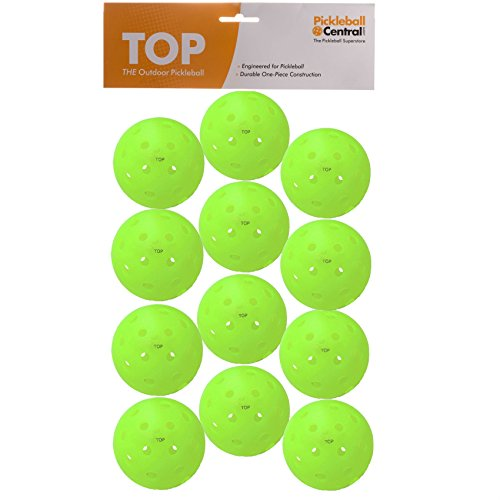 TOP ball (The Outdoor Pickleball) - DOZEN (12 Balls) - Neon Green