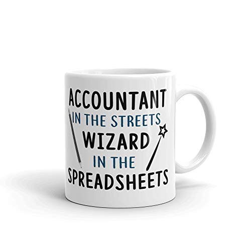 Accountant in the Streets Wizards Coffee Tea Ceramic Mug Office Work Cup Gift15 oz ()