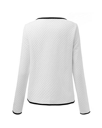 Slim Zanzea Longues Blouson B Ouvert Cardigan Manches Blanc Blazer Coat Femme Casual Jacket Printemps rIwUrqY