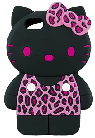 b64cc59dc Amazon.com: Sanrio Hello Kitty Full-Body 3D iPhone 5 Case (Leopard/Pink):  Cell Phones & Accessories