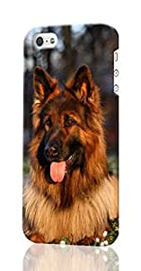 German Shepherd Dog Pattern Image - Protective 3d Rough Case Cover - Hard Plastic 3D Case - For iPhone 6 4.7
