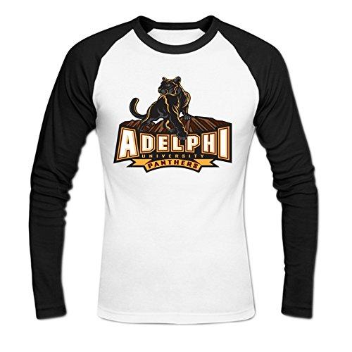 Okbanana Men's Adelphi University Casual Baseball T Shirt S White