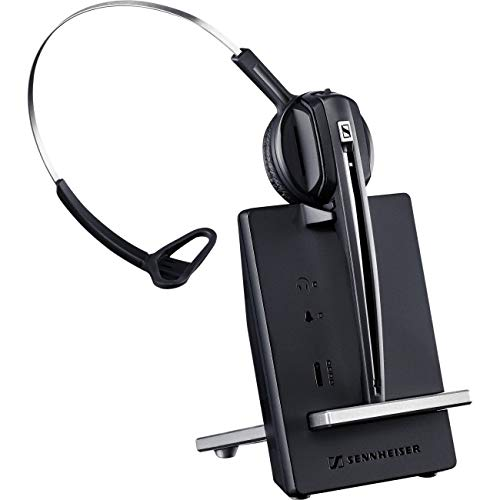 System Headset Usb (Sennheiser D 10 USB ML - US (506418) Single-Sided Wireless DECT Headset, with Direct Softphone Connection, Noise Cancelling Microphone, and is Skype for Business Certified (Black))
