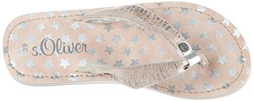 s.Oliver Unisex-Kinder 57100 Zehentrenner Pink (DUSTY PINK 547)