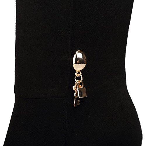 Scarpe Con Zeppa Balamasa Da Donna Con Tacco Vertiginoso In Pelle Scamosciata Abl09809 Nero
