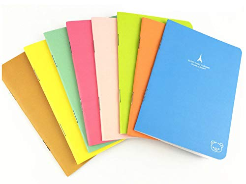 Pack of 8 (3.5x5) Candy Colors Pocket Notebook Set Pocket Pal Super Mini Journals Portable Steno Note Books Mini NoteBooks (8pcs)