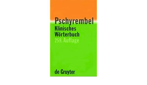 Pdf pschyrembel klinisches wörterbuch (261. Auflage) epub.