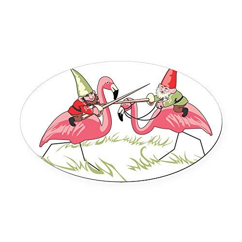 CafePress - Gnomes - Oval Car Magnet, Euro Oval Magnetic Bumper Sticker
