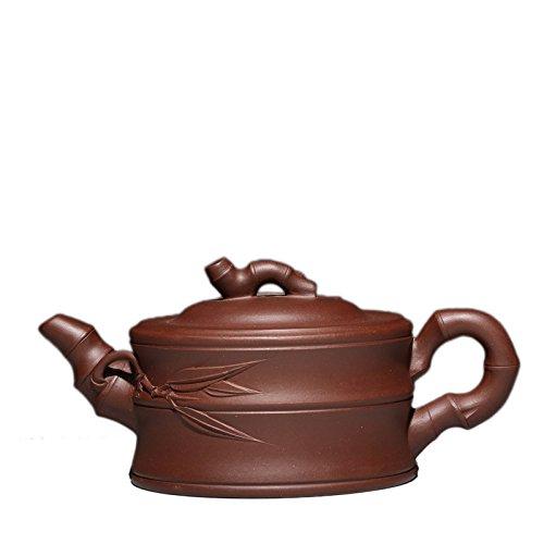 Chinese Yixing Clay Handmade Zisha Tea Pot Zi Ni Zhu Duan Bamboo Teapot 280cc