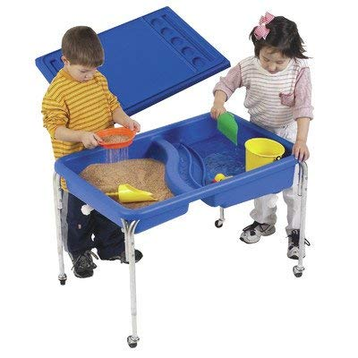 Children's Factory Neptune Table and Lid Set Sensory Table for Kids in Blue (36 x 24 x 24 in) ()