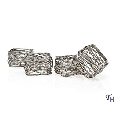 Square Mesh Napkin Rings set of 4