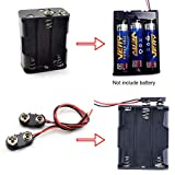 SDTC Tech 2/4/6/8 x 1.5V AA Battery Holder with