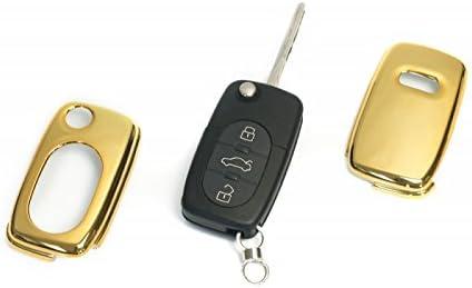 Key Cover Hülle Für Klappschlüssel Fernbedienung Ffb Gold Auto