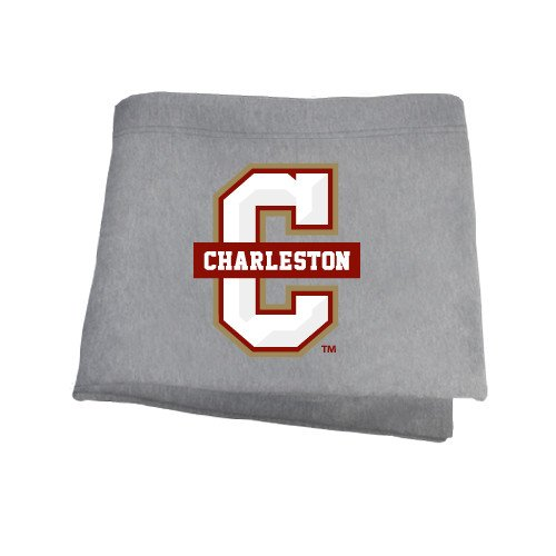 College of Charleston Grey Sweatshirt Blanket 'Official Logo - C Charleston' by CollegeFanGear