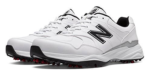 New Balance Men's nbg1701 Golf Shoe, White/Black, 10.5 4E US