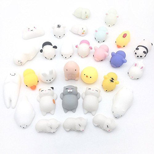 Cute Phone Charms - Fuyamp Squishies Slow Rising Toy Soft Cartoon Squishy Squeeze Toy Cute Phone Straps Charm (5 pcs color random)